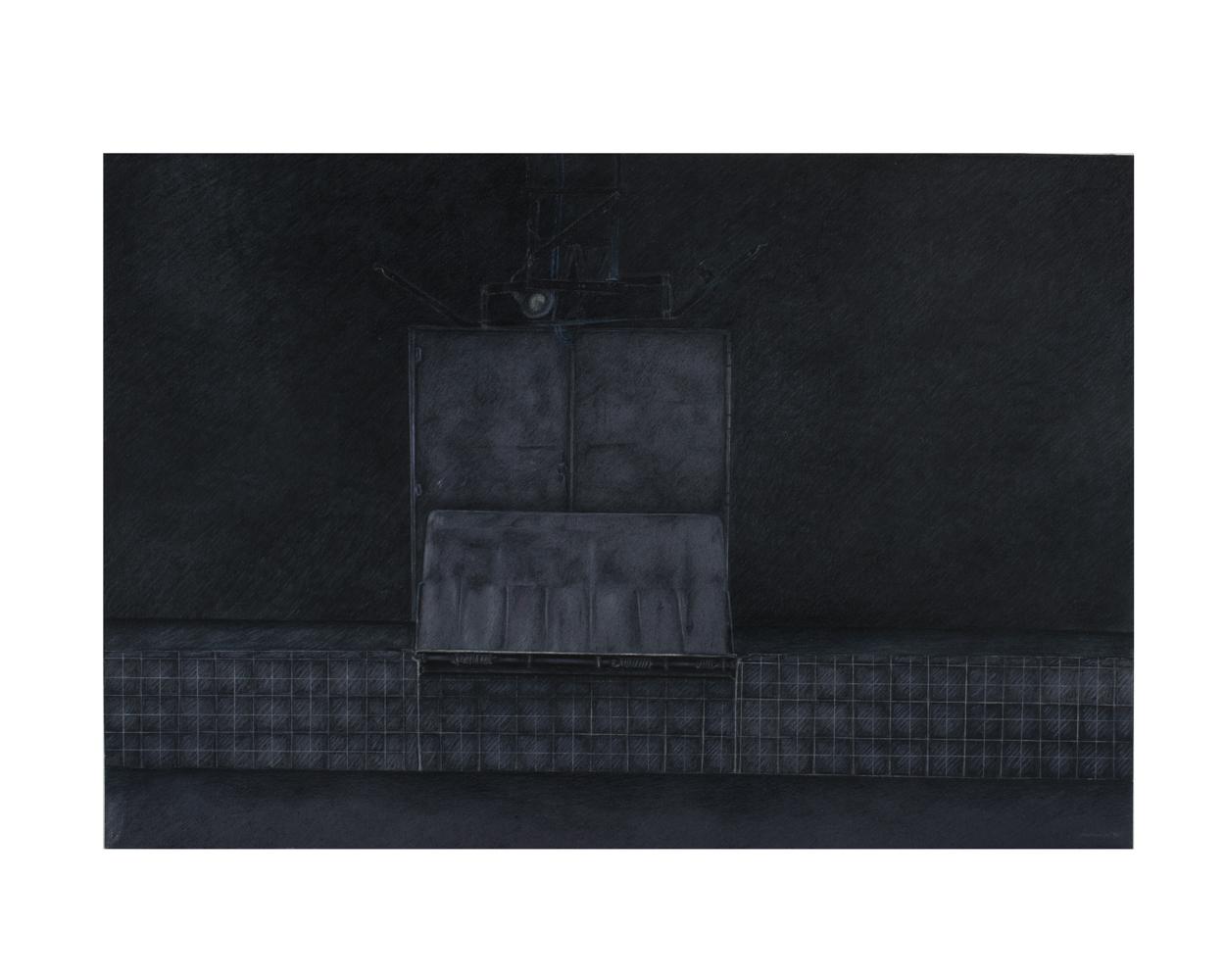 """""""Sans titre"""" - Technique mixte sur carton Schoeller - 51 x 73 cm - 1985"""