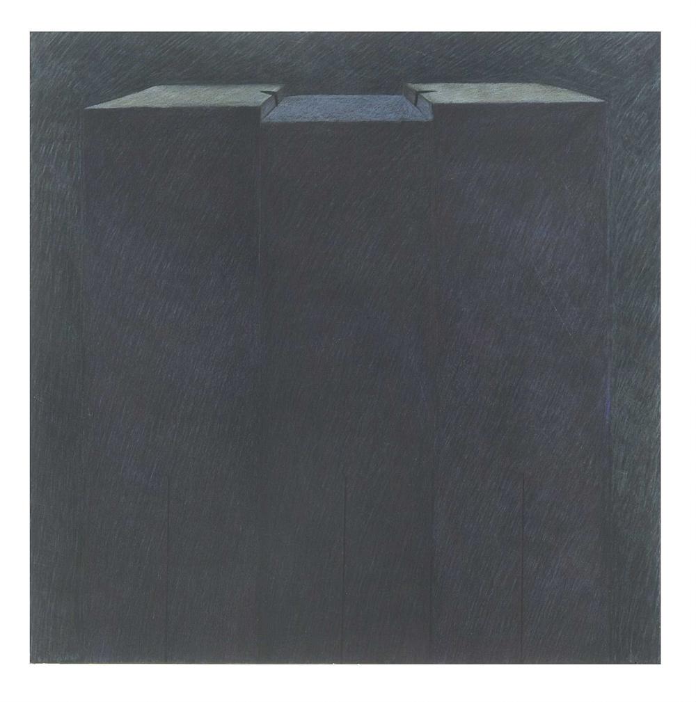 Techniques mixtes sur papier marouflé - 60 x 60 cm - 2004