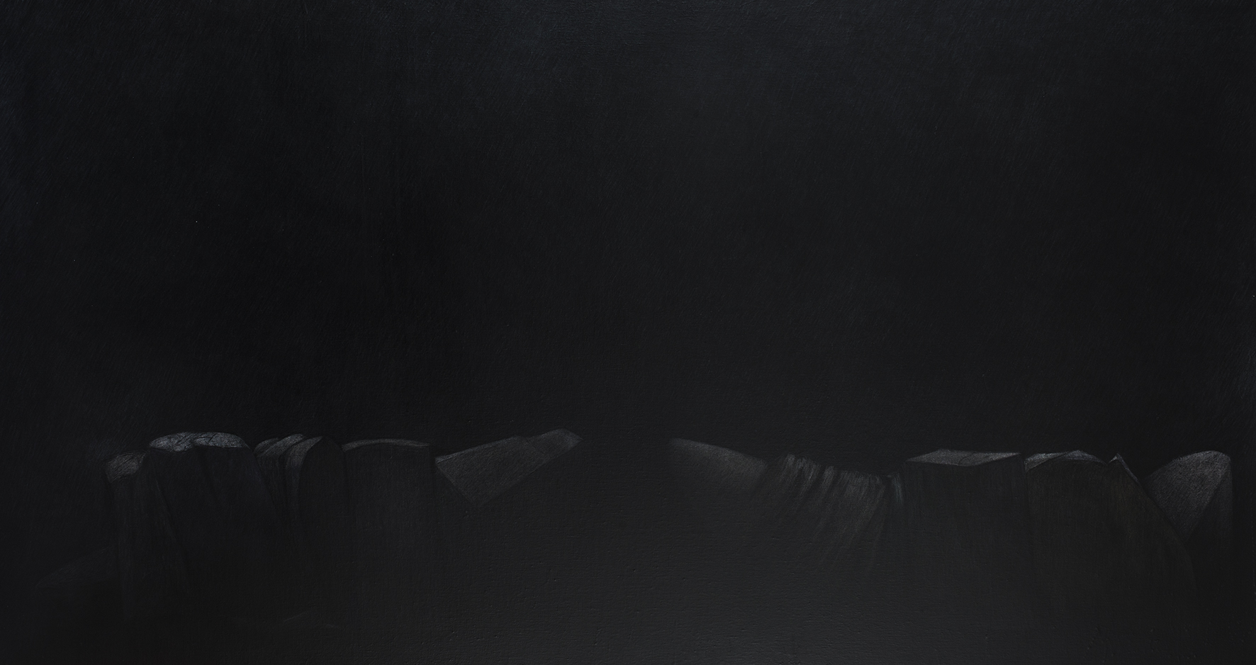 Techniques mixtes sur toile - 80 x 150 cm - 2020