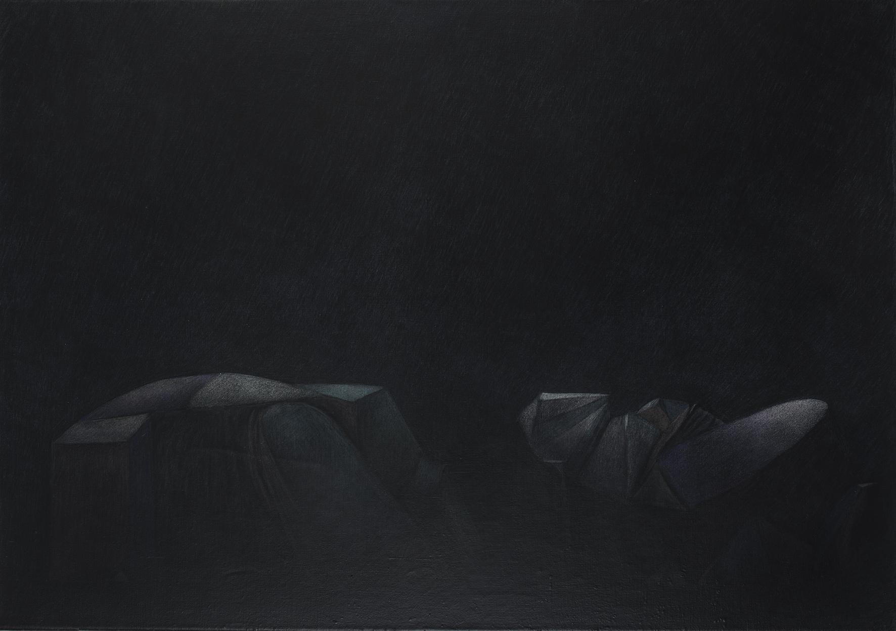 Techniques mixtes sur toile - 70 x 100 cm - 2019